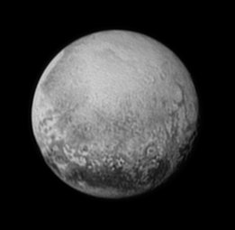 Pluto as seen from New Horizons on July 11, 2015